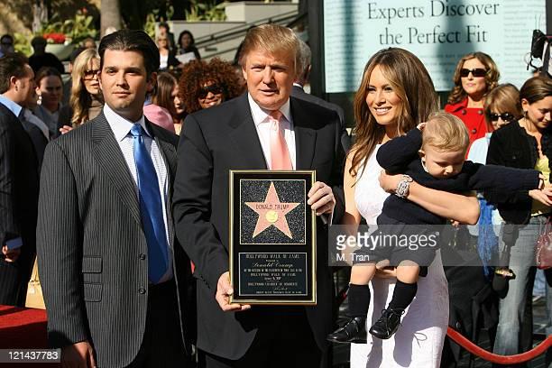 Donald Trump Jr Donald Trump Melania Trump and Barron Trump