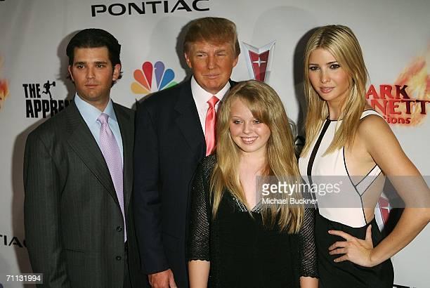 Donald Trump Jr Donald Trump Tiffany Trump and Ivanka Trump arrive at the Season Five Finale of 'The Apprentice' at the California Market Center on...