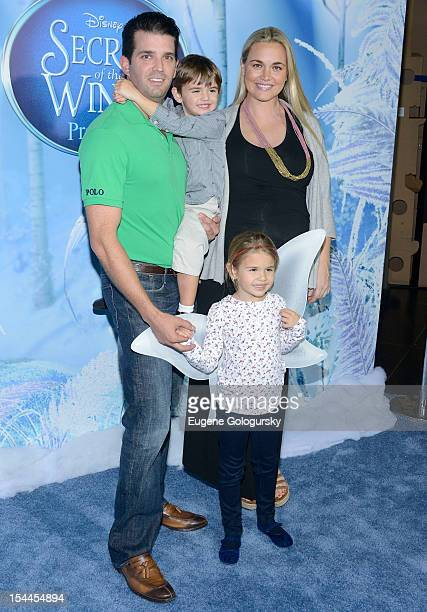 Donald Trump Jr Donnie Trump Kai Trump and Vanessa Trump attend 'Secret Of Wings' New York Premiere at AMC Loews Lincoln Square on October 20 2012 in...