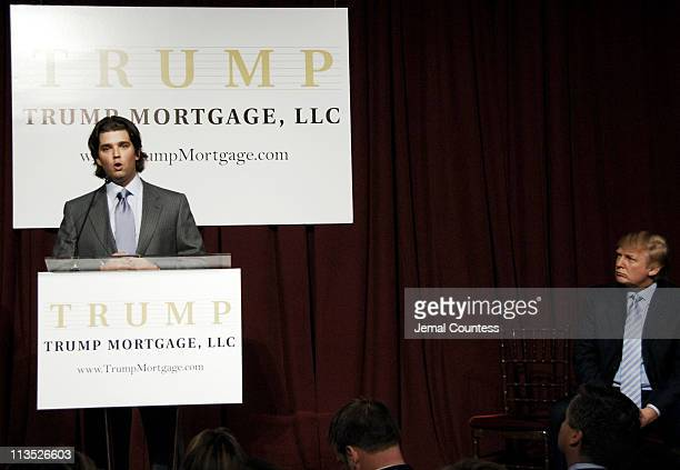 Donald Trump Jr during Donald Trump New York City Press Launch For Latest Venture Trump Mortgage LLC at Trump Tower in New York City New York United...