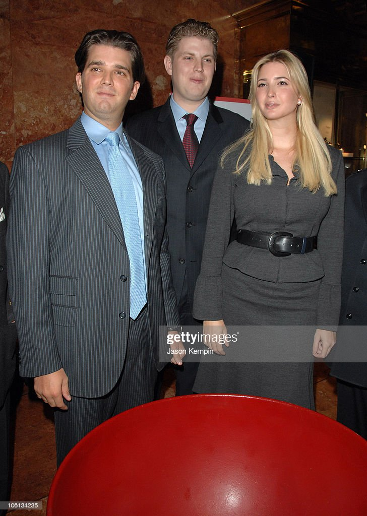 Donald Trump Jr., Eric Trump and Ivanka Trump during Salvation Army Fundraising Kickoff with Trump Family - November 20, 2006 at Trump Tower in New York City, New York, United States.