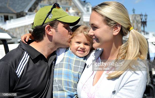 Donald Trump Jr Executive VP Trump Organization Vanessa Trump and their daughter Kai Madision Trump attend the 4th annual Eric Trump Foundation Golf...