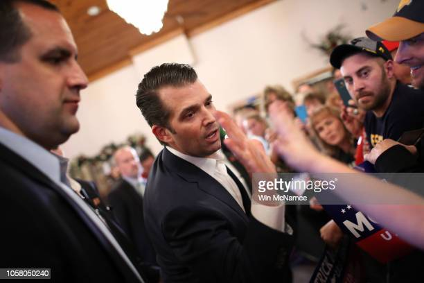 VIRGINIA OCTOBER Donald Trump Jr greets West Virginia voters after speaking at a campaign event for Republican US Senate candidate Patrick Morrisey...