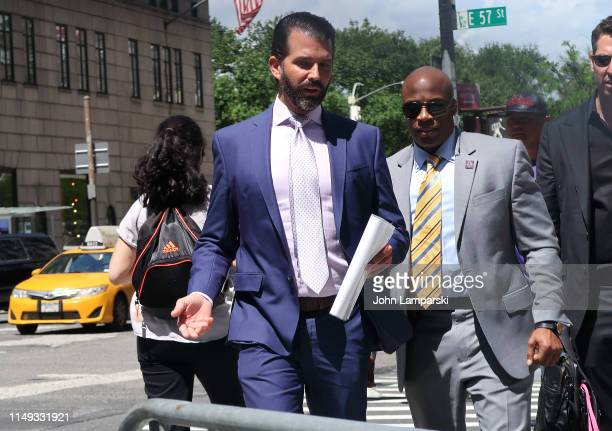Donald Trump Jr is seen in Midtown Manhattan on May 15 2019 in New York City