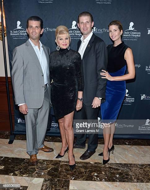 Donald Trump Jr Ivana Trump Eric Trump and Ivanka Trump attend the 9th Annual Eric Trump Foundation Golf Invitational Auction Dinner at Trump...