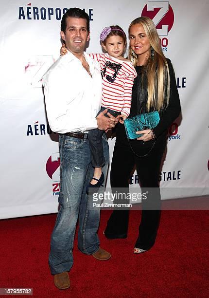 Donald Trump Jr Kai Madison Trump and Vanessa Haydon Trump attend Z100's Jingle Ball 2012 presented by Aeropostale at Madison Square Garden on...