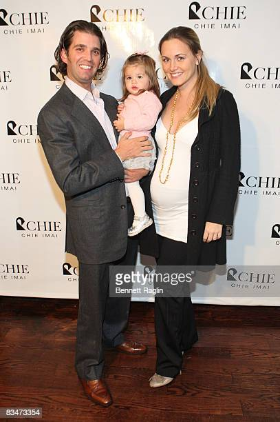 Donald Trump Jr Kai Madison Trump and Vanessa Trump attend the unveiling of Royal Chie's 'Mosaique de Chie Eco Harmony' Luxury Fur Collection at...