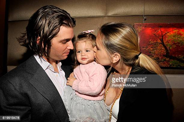 Donald Trump Jr Kai Trump and Vanessa Trump attend ROYAL CHIE Celebrates Their New ECOFriendly Collection at Geisha on October 28 2008 in New York...