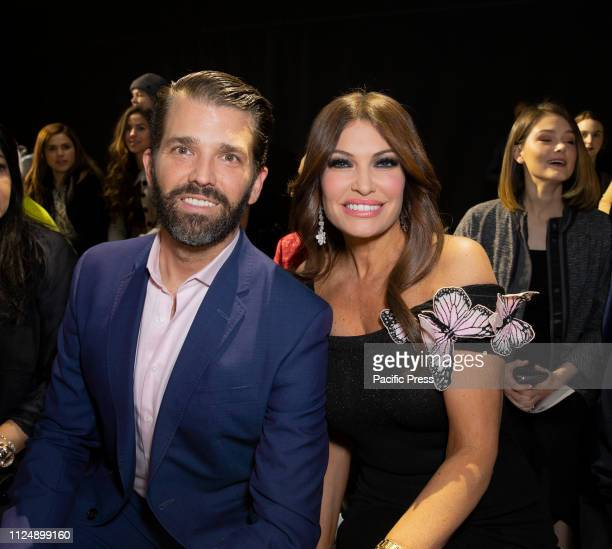 Donald Trump Jr Kimberly Guilfoyle attend runway for Zang Toi Fall/Winter collection during New York Fashion Week at Spring Studios