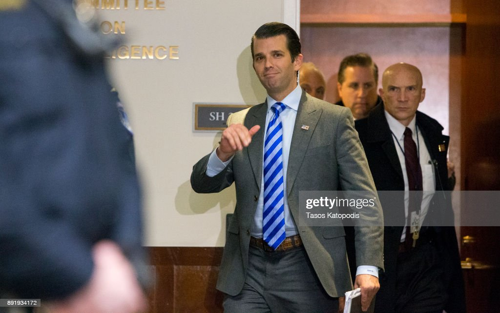 Senate Intelligence Committee Interviews Donald Trump Jr. In Russia Investigation On Capitol Hill