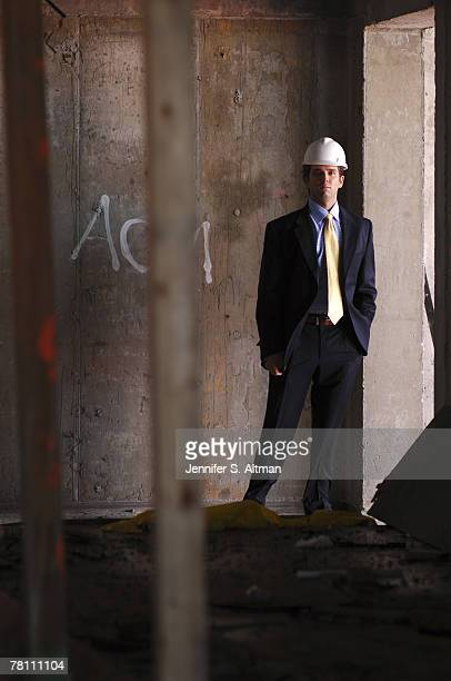 Donald Trump Jr poses for a portrait at the construction site of the new Trump Soho Hotel in New York City