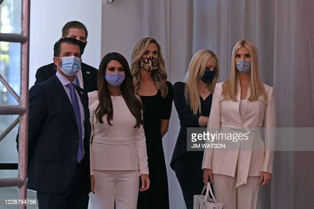 Donald Trump Jr son of the US President Eric Trump son of the US President attorney and television personality Kimberly Guilfoyle campaign adviser to...