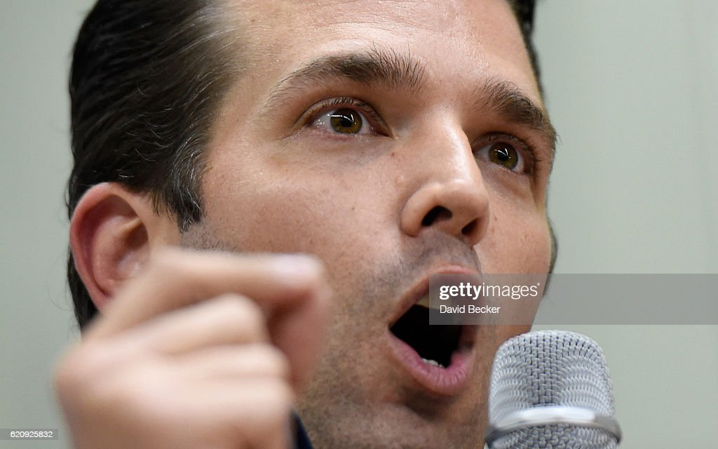 Donald Trump Jr. Campaigns For HIs Father In Las Vegas