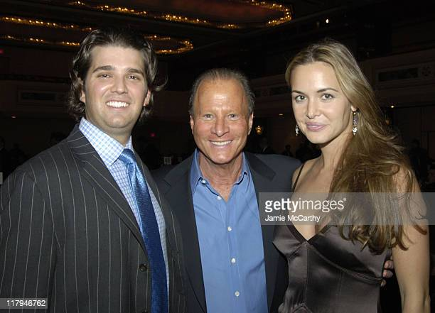 Donald Trump Jr., Stewart Rahr and Vanessa Haydon during The Friars Club Roast of Don King at The New York Hilton in New York City, New York, United...