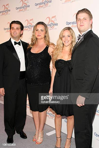Donald Trump Jr Vanessa Trump and Eric Trump during The Operation Smile 25th Anniversary Smile Collection Couture Event Arrivals at 7 World Trade...