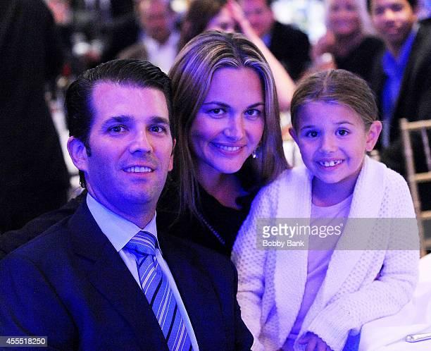 Donald Trump Jr Vanessa Trump and Kai Madison Trump attend the 8th Annual Eric Trump Golf Tournament at Trump National Golf Club Westchester on...