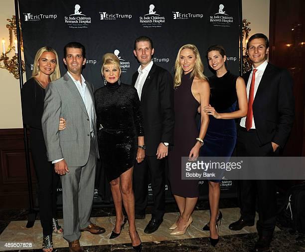 Donald Trump Jr Vanessa Trump Ivana Trump Eric Trump Lara Trump Ivanka Trump and Jared Kushner attends the 9th Annual Eric Trump Foundation golf...