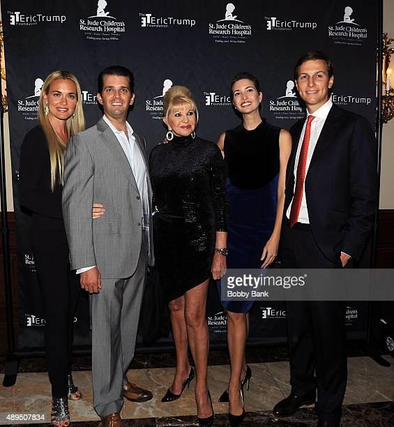 Donald Trump Jr Vanessa Trump Ivana Trump Ivanka Trump and Jared Kushner attends the 9th Annual Eric Trump Foundation golf invitational at Trump...