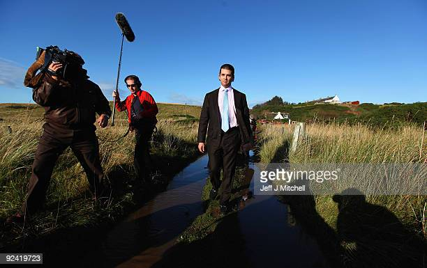 Donald Trump Jr views work on the Menie estate on October 28 2009 in Aberdeen Scotland Preparatory work started today on Donald Trump's golf project...