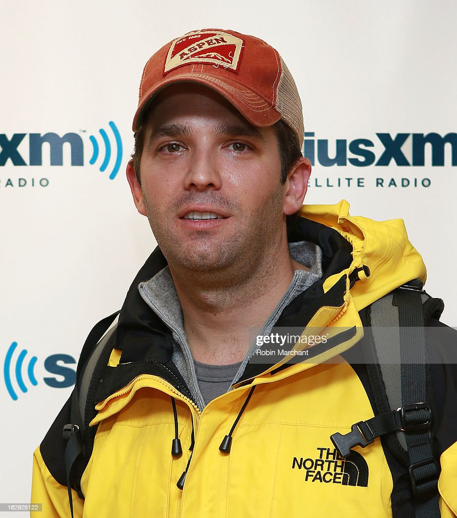 Donald Trump Jr. visits at SiriusXM Studios on March 1, 2013 in New York City.