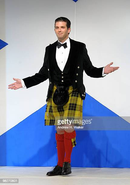Donald Trump Jr walks the runway at the 8th annual 'Dressed To Kilt' Charity Fashion Show presented by Glenfiddich at M2 Ultra Lounge on April 5 2010...