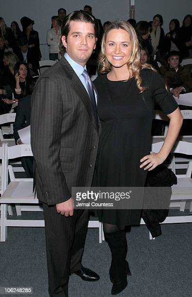 Donald Trump Jr with Vanessa Trump during MercedesBenz Fashion Week Fall 2007 Chaiken Front Row and Backstage at The Salon Bryant Park in New York...