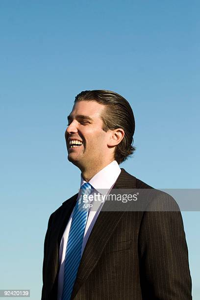 Donald Trump Junior is pictured as work begins on the golf course being built by his father US tycoon Donald Trump in Balmedie near Aberdeen Scotland...