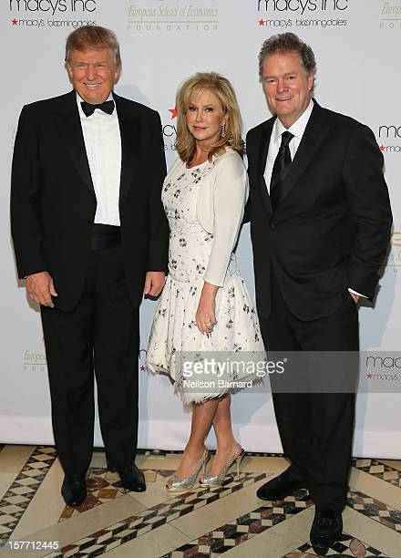 Donald Trump Kathy Hilton and Rick Hilton attend European School Of Economics Foundation Vision And Reality Awards on December 5 2012 in New York City