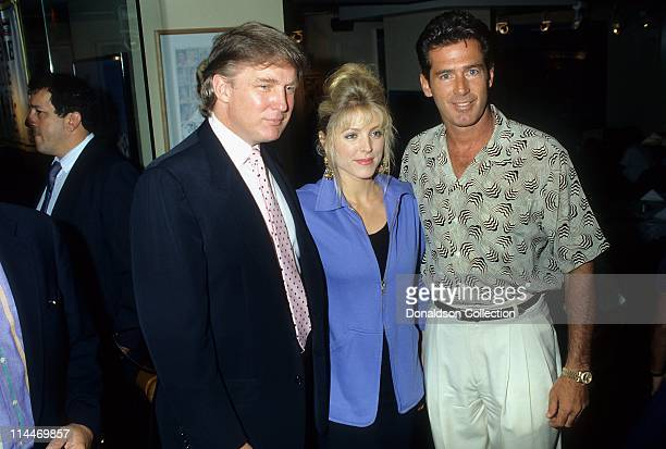 Donald Trump Marla Maples Actor Jack Scalia pose for a portrait in 1991 in Los Angeles, California.