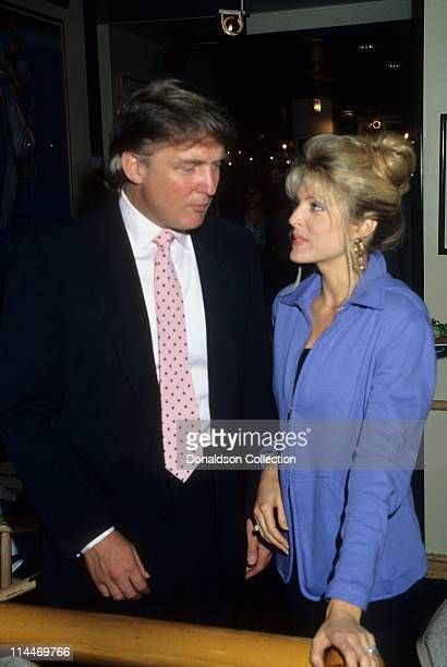 Donald Trump Marla Maples pose for a portrait in 1991 in Los Angeles California