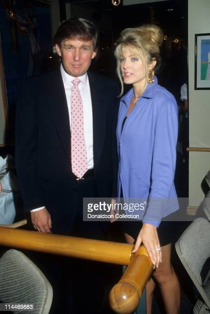 Donald Trump Marla Maples pose for a portrait in 1991 in Los Angeles, California.