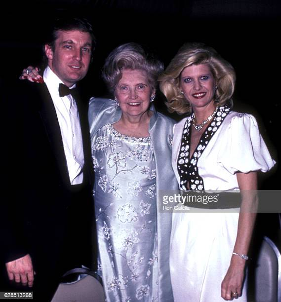 Donald Trump Mary Anne Trump and Ivana Trump attend 38th Annual Horatio Alger Awards Dinner on May 10 1985 at the Waldorf Hotel in New York City