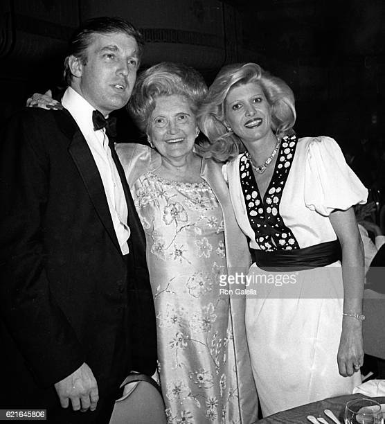 Donald Trump Mary Anne Trump and Ivanka Trump attend 38th Annual Horatio Alger Awards Dinner on May 10 1985 at the Waldorf Hotel in New York City