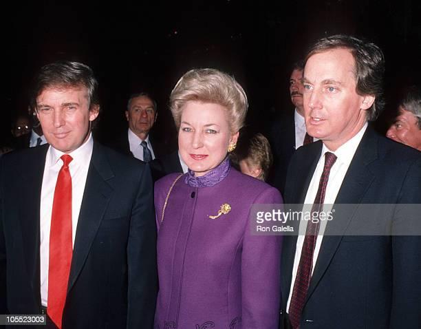 Donald Trump Maryanne Trump and Robert Trump during Opening of Donald Trump's Taj Mahal Casino April 5 1990 at Taj Mahal Hotel and Casino in Atlantic...