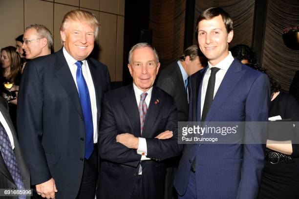 Donald Trump Mayor Michael Bloomberg and Jared Kushner attend The New York Observer 25th Anniversary at Four Seasons Restaurant on March 14 2013 in...