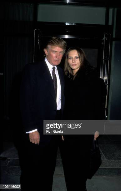 Donald Trump Melania Knauss during Grand Opening of 'W' New York Hotel at W Hotel NYC in New York City New York United States