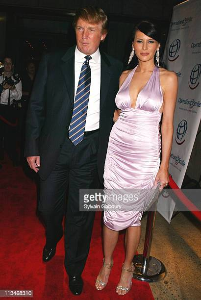 Donald Trump Melania Knauss during Operation Smile's 'Smile Collection' a 2004 Couture Event at Whitney Museum in New York New York United States
