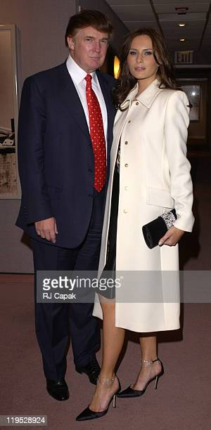 Donald Trump Melania Knauss during Special Screening of The HBO Presentation 'The Kid Stays In The Picture' at AOL Time Warner Screening Room in New...