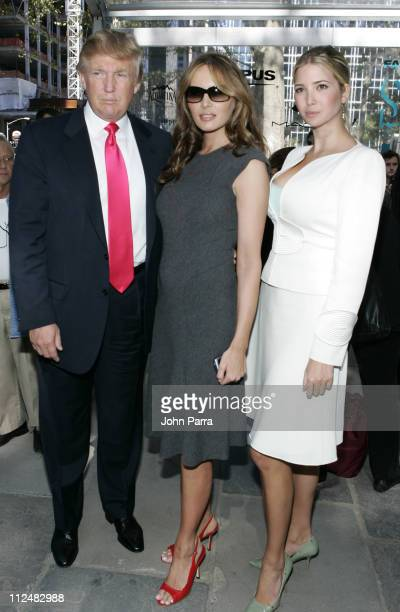 Donald Trump Melania Trump and Ivanka Trump during Olympus Fashion Week Spring 2007 Seen at Bryant Park Day 3 at Bryant Park in New York City New...
