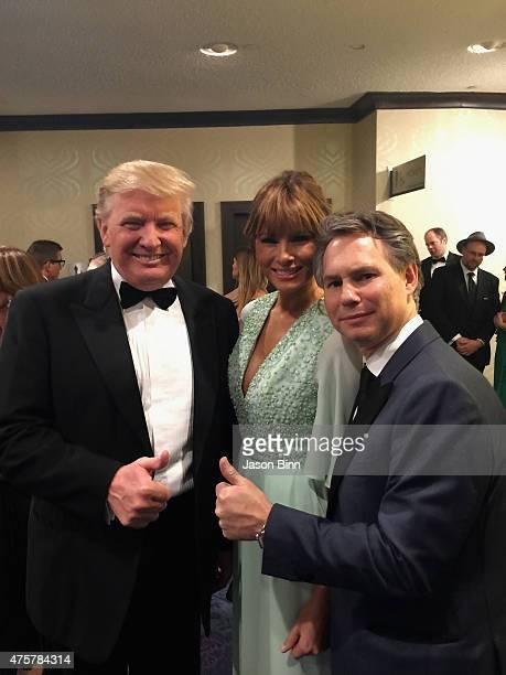 Donald Trump Melania Trump and Jason Binn DuJour Media Founder circa April 2015 at White House Correspondents Dinner in Washington DC