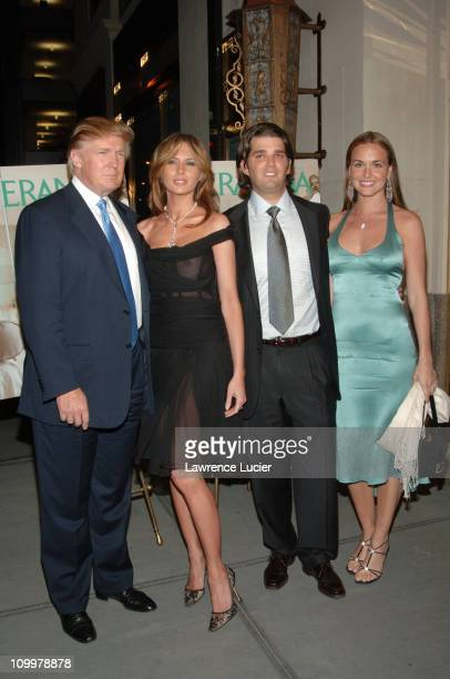 Donald Trump Melania Trump Donald Trump Jr and Vanessa Haydon