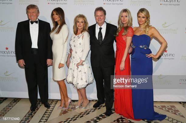 Donald Trump Melania Trump Kathy Hilton Rick Hilton Nicky Hilton and Paris Hilton attend European School Of Economics Foundation Vision And Reality...