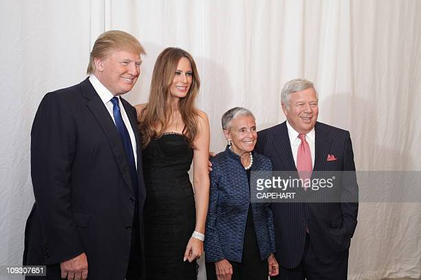 Donald Trump Melania Trump Myra Kraft and Robert Kraft attends 20th Anniversary Discovery Celebration benefiting DanaFarber Cancer Institute and the...