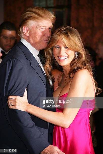 Donald Trump Melania Trump Trump during The Breast Cancer Research Foundation's Annual Hot Pink Party at Waldorf Astoria Hotel in New York New York...