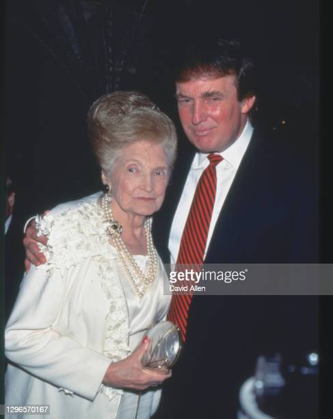 Donald Trump & Mom Mary Anne MacLeod at an unspecified event, undated.