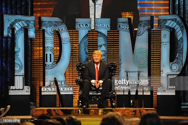 Donald Trump onstage at the COMEDY CENTRAL Roast of Donald Trump at the Hammerstein Ballroom on March 9, 2011 in New York City.