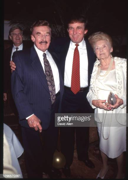 Donald Trump & Parents Mary Anne MacLeod & Fred Trump at an unspecified event, undated.