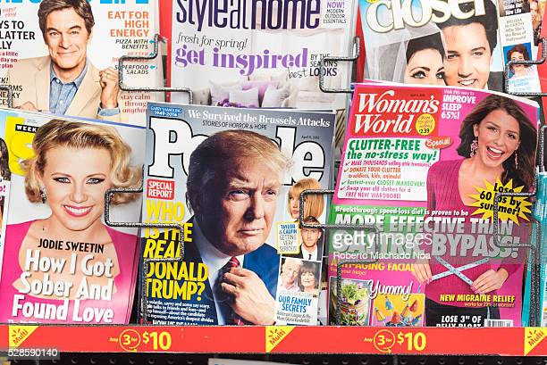 Donald Trump People Magazine Cover among other celebrities in a stand Donald Trump is a controversial candidate to US president by the Republican...