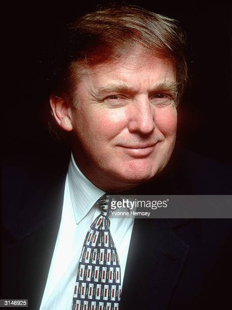 Donald Trump poses for a portrait December 15 1996 at his office in NewYork City
