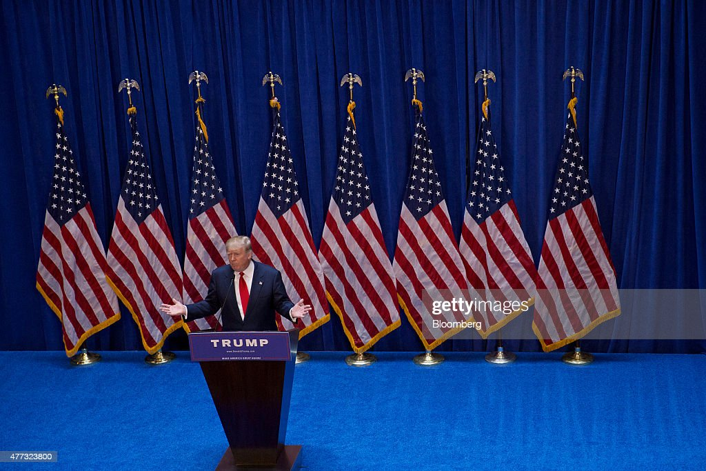 Trump Organization Inc. CEO Donald Trump Announces Whether He Will Run For President : News Photo